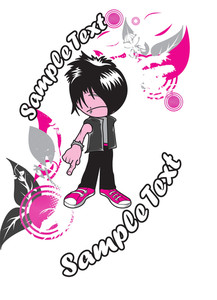 Emo Kid With Floral Vector T-shirt Design