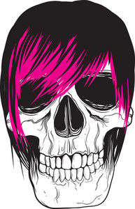 Emo Skull Vector Element