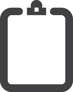 Empty Clipboard Stroke Icon