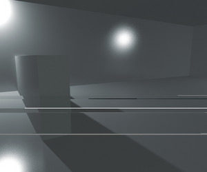 Empty Interior Rendered Background