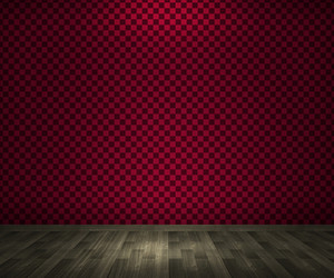 Empty Red Room Background