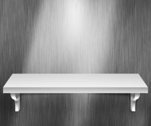 Empty Shelf Metal Background