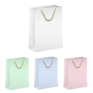 Empty Shopping Paper Bags