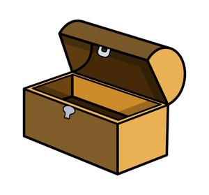 Empty Trunk - Cartoon Vector Illustration
