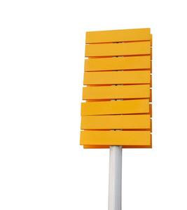 Empty Yellow Signpost