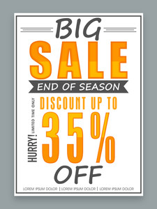 End of Season Big Sale poster