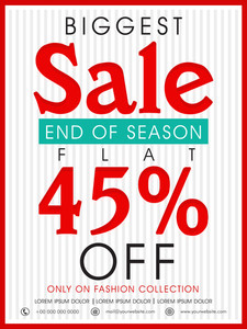 End of Season Biggest Sale poster