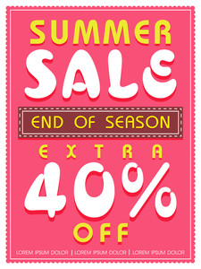 End of Season Summer Sale flyer