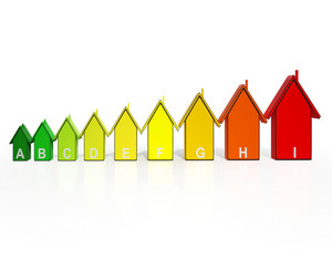 Energy Efficiency Rating Houses Showing Eco Buildings