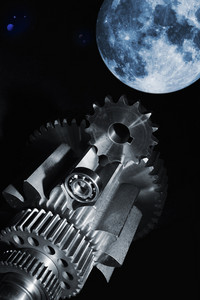 engineering parts and planet moon