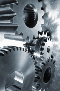 engineering parts, cogs and gears