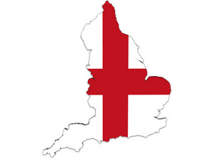 England Map And Flag