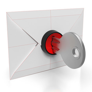 Envelope And Key Showing Secure Email