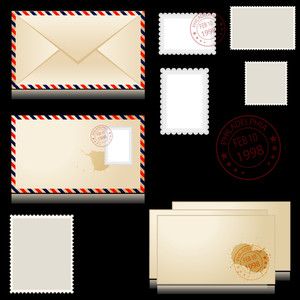 Envelope And Tickets Vectors