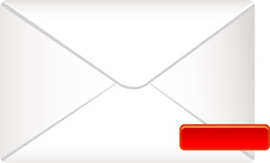 Envelope Icon With Red Minus Sign On White Background