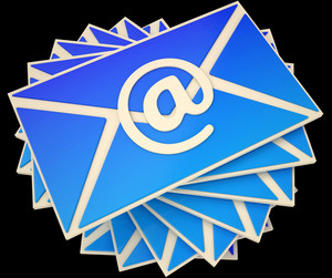 Envelope Shows E-mail Online To Communicate Information