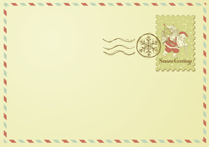 Envelope With Christmas Stamp