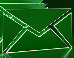 Envelopes On Background Showing Electronic Mailbox