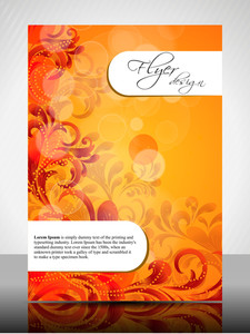 Eps 10 Flower Concept Flyer Design Presentation With Colorful Flower Editable Vector Illustration.
