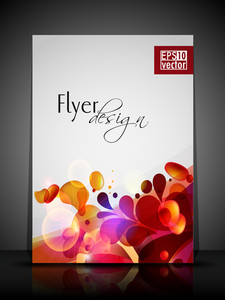 Eps 10 Flower Concept Flyer Design Presentation With Editable Vector Illustration.