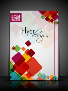 Eps 10 Flyer Design Presentation With Colorful Abstract And Editable Vector Illustrat