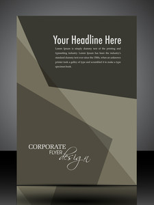 Eps 10 Professional Corporate Flyer Design Presentation. Editable Vector Illustration