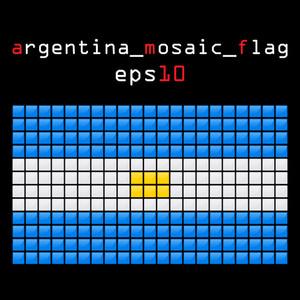 Eps10 Mosaic Argentina Flag