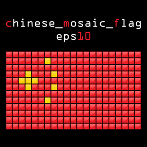 Eps10 Mosaic Chinese Flag