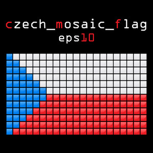 Eps10 Mosaic Czech  Flag