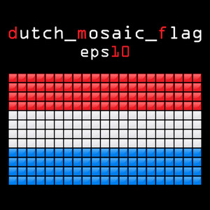 Eps10 Mosaic Dutch Flag