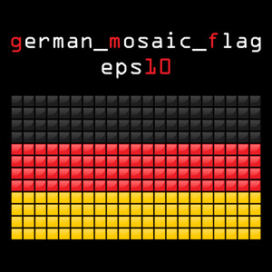 Eps10 Mosaic German Flag