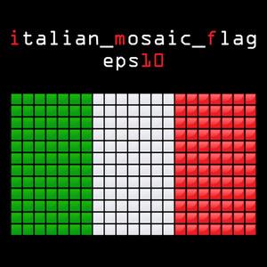 Eps10 Mosaic Italian Flag