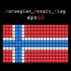 Eps10 Mosaic Nirwegian Flag