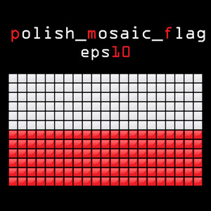 Eps10 Mosaic Polish Flag