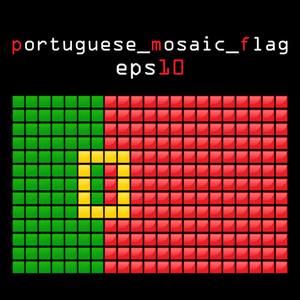 Eps10 Mosaic Portuguese Flag