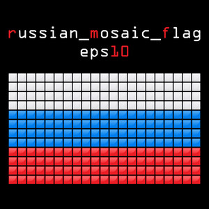 Eps10 Mosaic Russian Flag