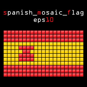 Eps10 Mosaic Spanish Flag