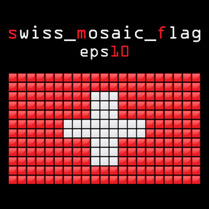 Eps10 Mosaic Swiss Flag