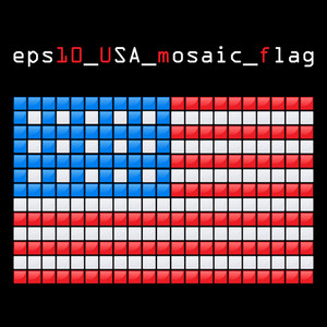 Eps10 Mosaic Usa Flag
