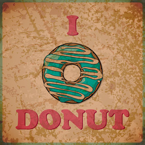 Eps10 Vintage Background With Donut
