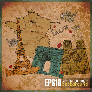 Eps10 Vintage Background With French Motive