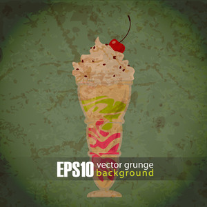 Eps10 Vintage Background With Milkshake
