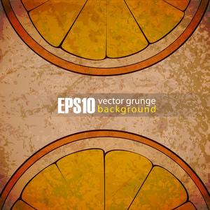 Eps10 Vintage Background With Orange