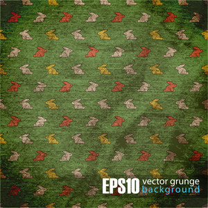 Eps10 Vintage Background With Rabbits