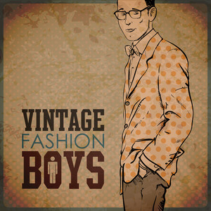 Eps10 Vintage Background With Stylish Dude