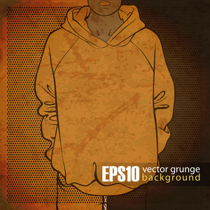 Eps10 Vintage Background With Sweatshirt