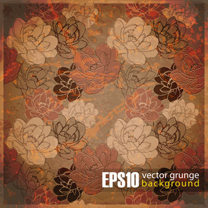 Eps10 Vintage Floral Background