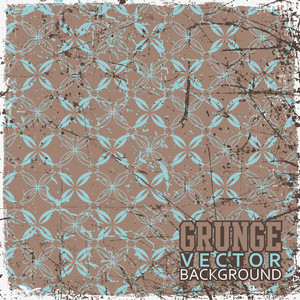 Eps10 Vintage Scratched Floral Background