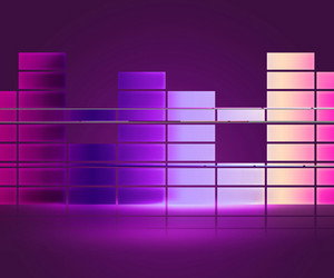 Equalizer Music Violet Background