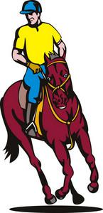 Equestrian Show Jumping Retro